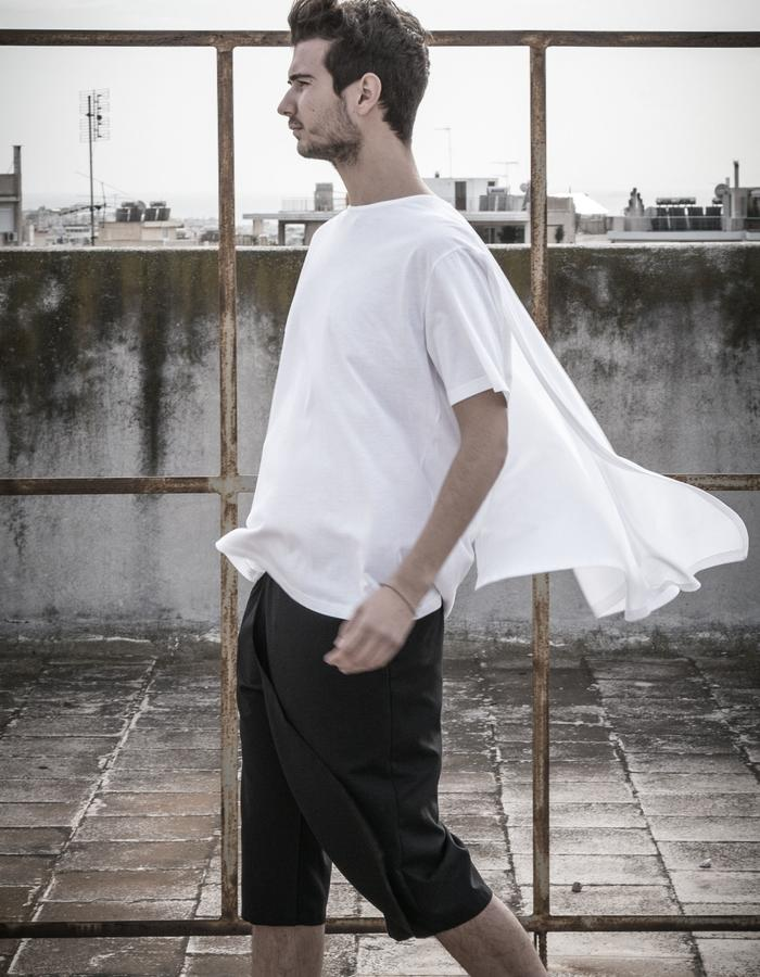 white cape t-shirt