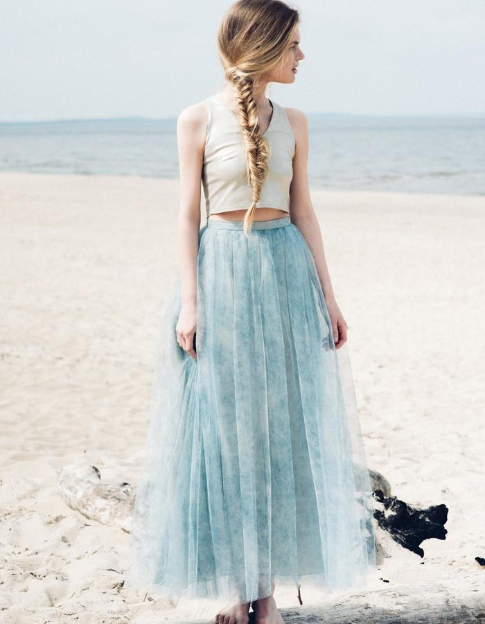 tulle skirt and golden top