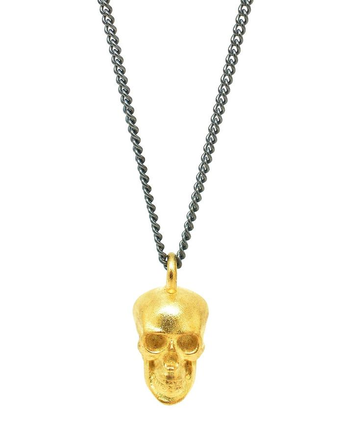 Large Calvariam Pendant Gold+Black