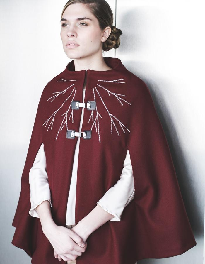 Embroidered cape aw15 LIVLOV