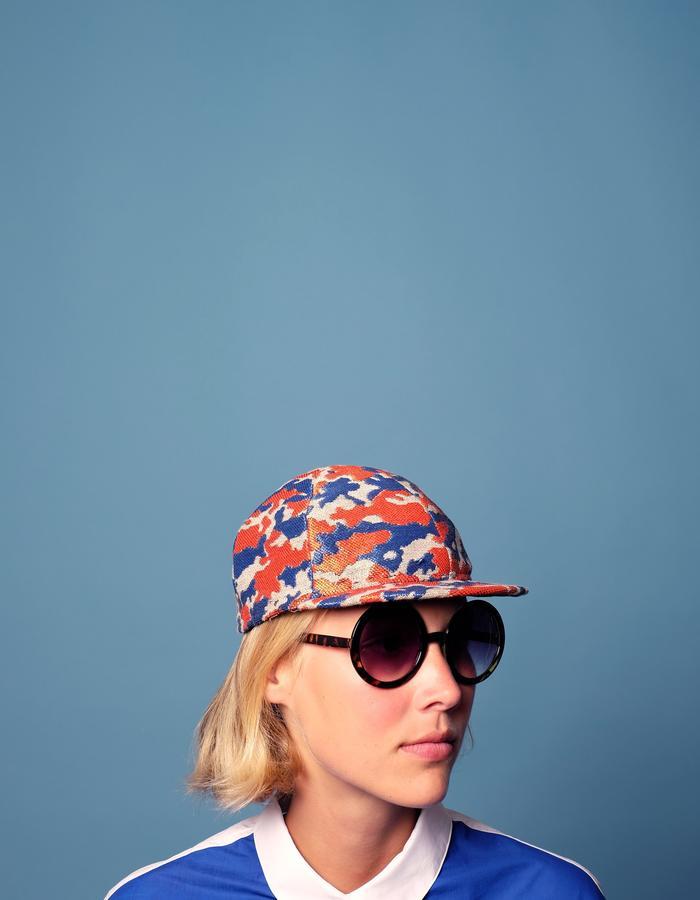 alan auctor ss16 orange and blue camo flat cap