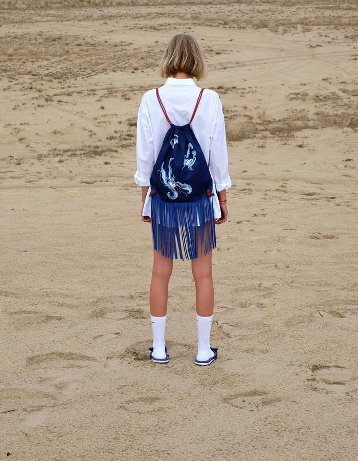 alan auctor ss16 backpack bats embroidery desert
