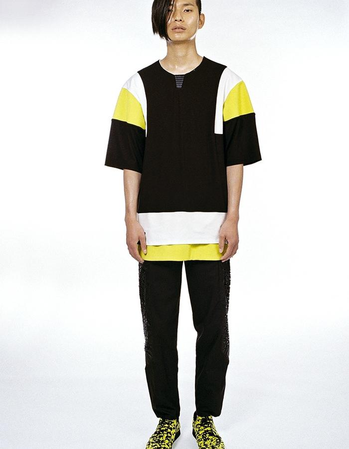 Double layer shirt, lasercut trousers