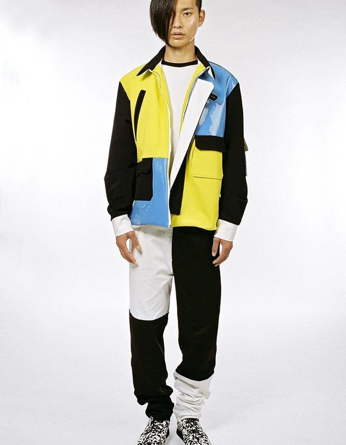 Patchwork Bomber with patchwork trousers
