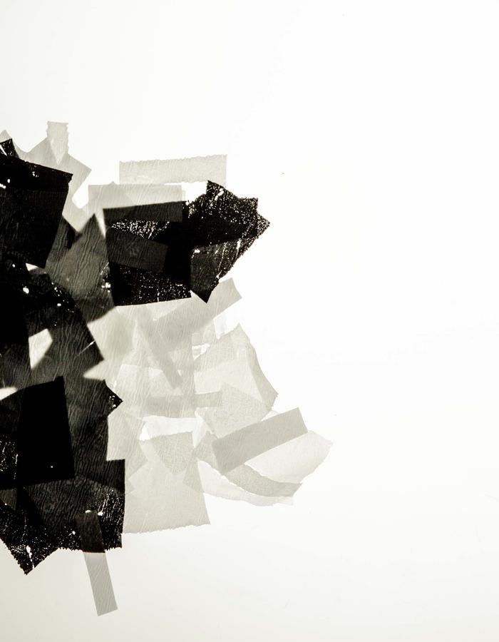 Pressed and melted scraps | bio plastic foil.