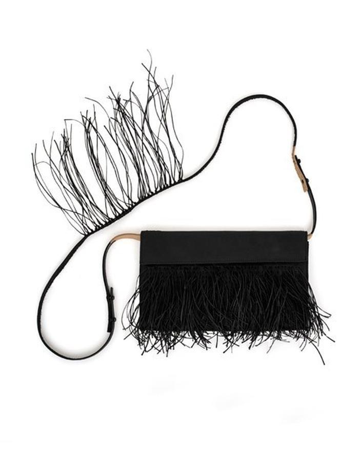 YVES Fringe Envelope Clutch Bag