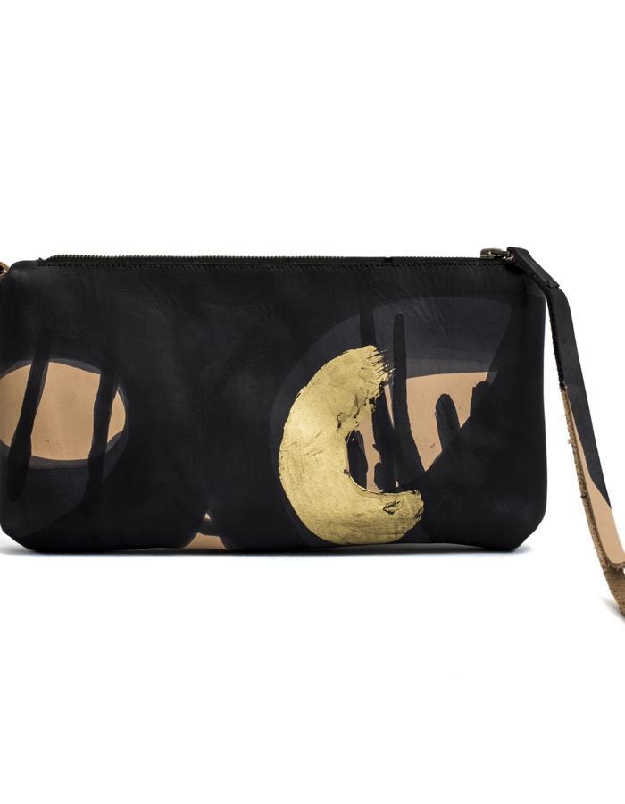 Kamy one of a kind hand painted clutch bag #27