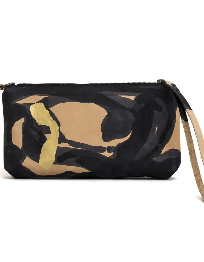 Kamy one of a kind hand painted clutch bag #29