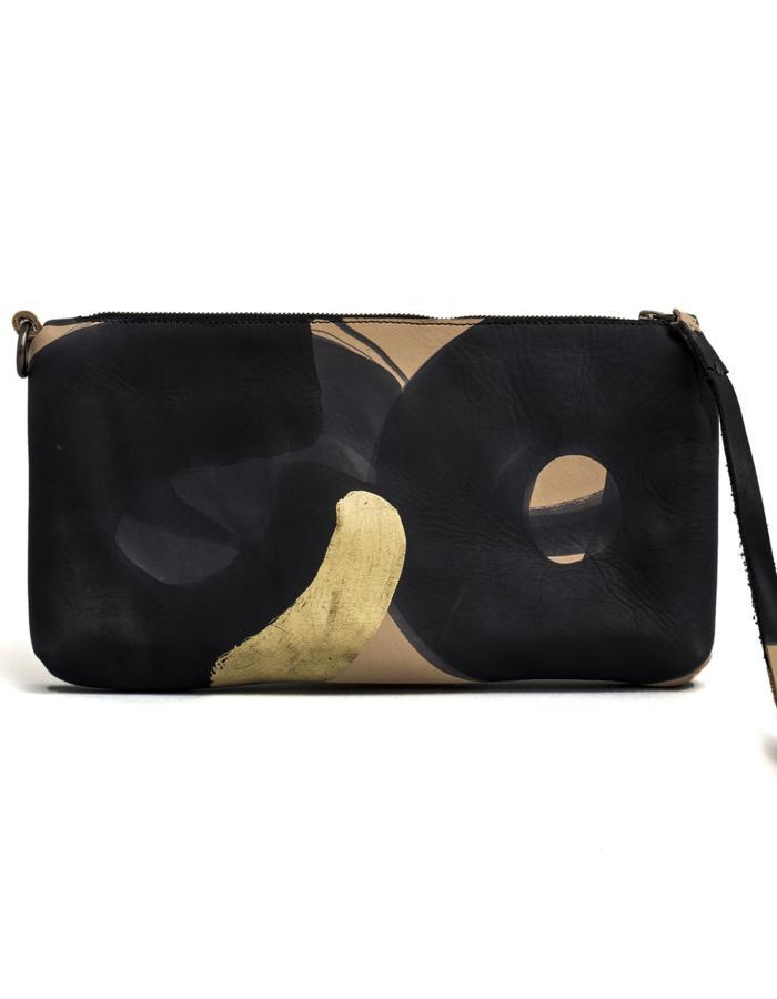 Kamy one of a kind hand painted clutch bag #31