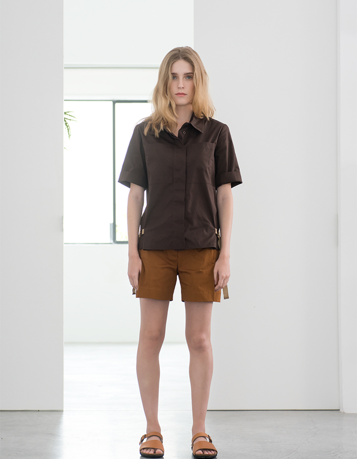 Magpie Goose Brown Monocline shirt Rust Richter shorts