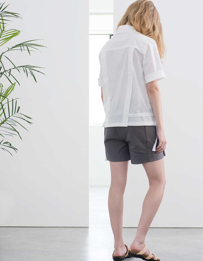 Magpie Goose White Monocline shirt Gray Richter shorts