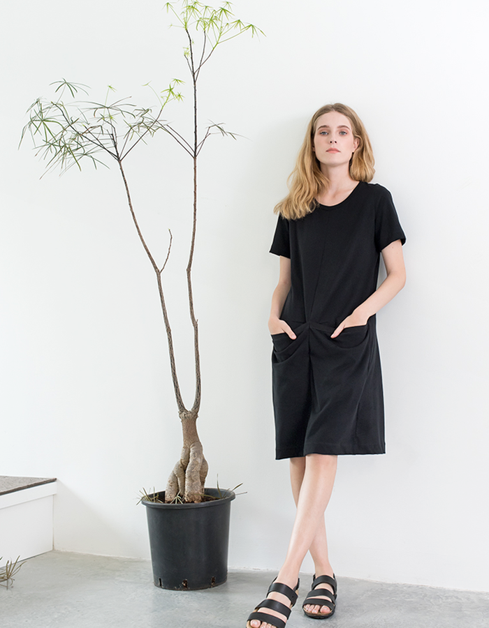 Magpie Goose Black Silt dress