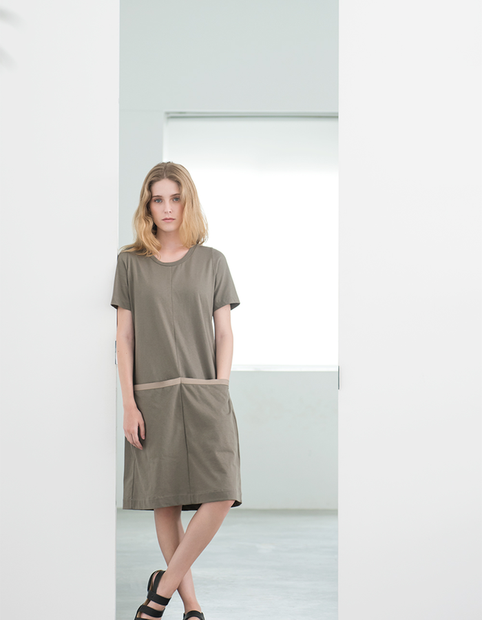 Magpie Goose Green Silt dress