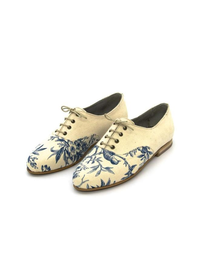 Andy- fabric oxfords with a leather lining, can be made in a vegan version