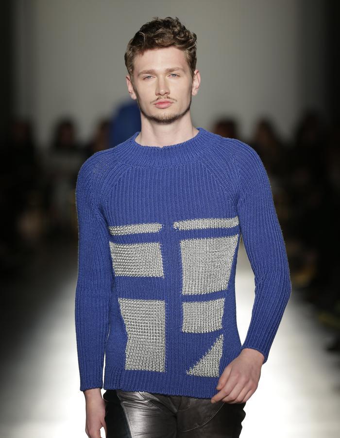 Blue Knitwear Sweater