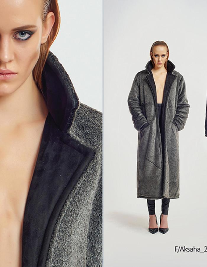 Haifa Fahad Reversible Faux Fur Winter Coat