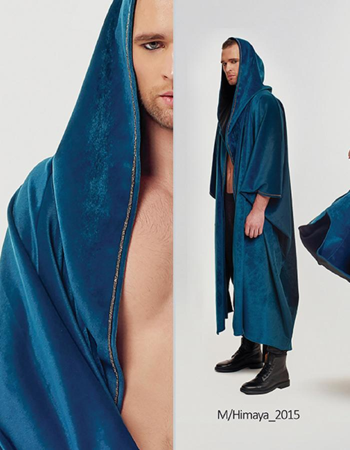 Haifa Fahad Velour Green Cape