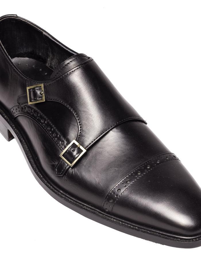 Black Leather Monkstrap