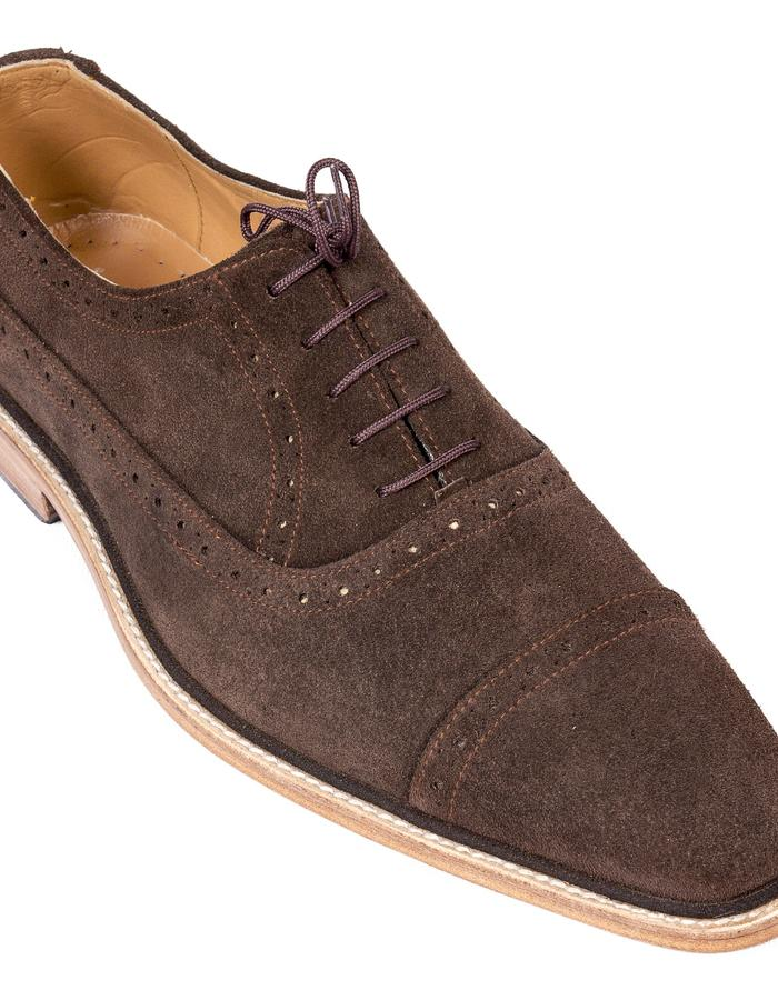 Coffee Brown Suede Oxford