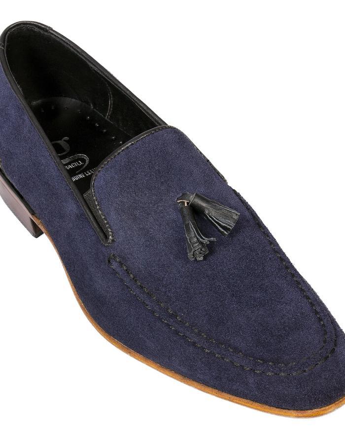 Navy Suede Suede tassel Loafers