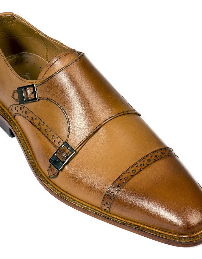 Tango Brown Leather Monkstrap