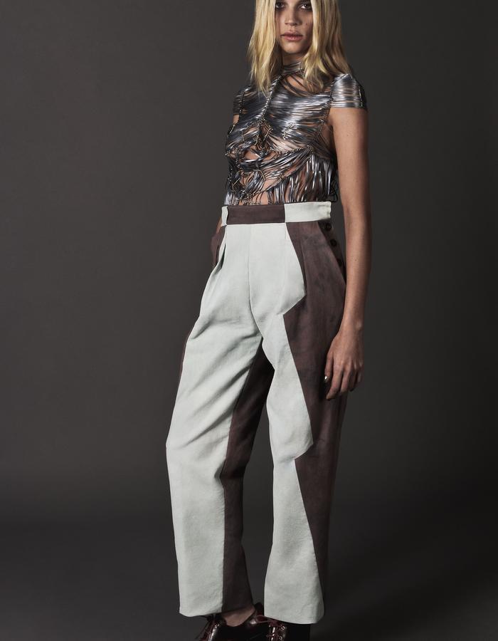 Iris: ribbon top and hard pants
