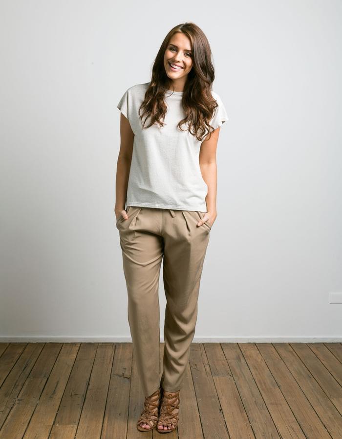 Modal/cotton tee with tencel pants