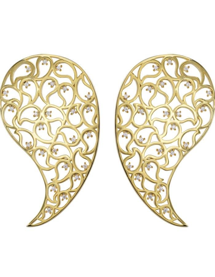 Kairi Rose Gold earrings Yellow CZ