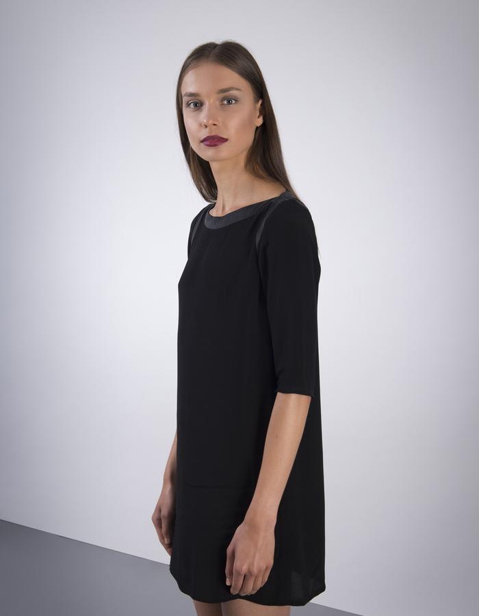 GINLEE Twist Dress, Rayon Viscose