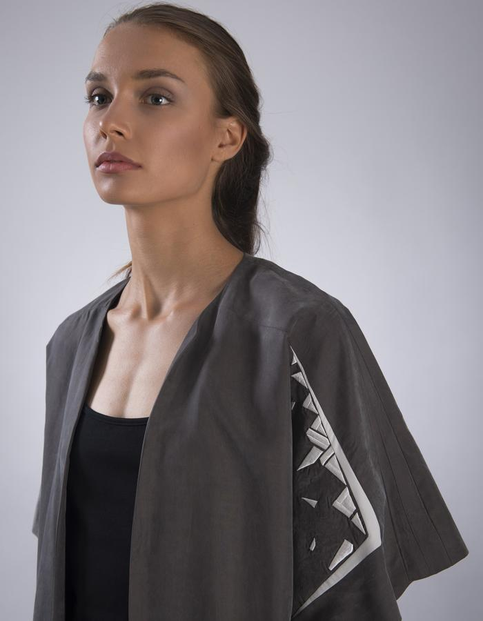 GINLEE Pavé Jacket, Embroidery on Cupro