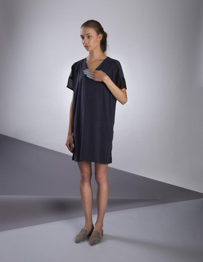GINLEE Wing Dress, Cupro