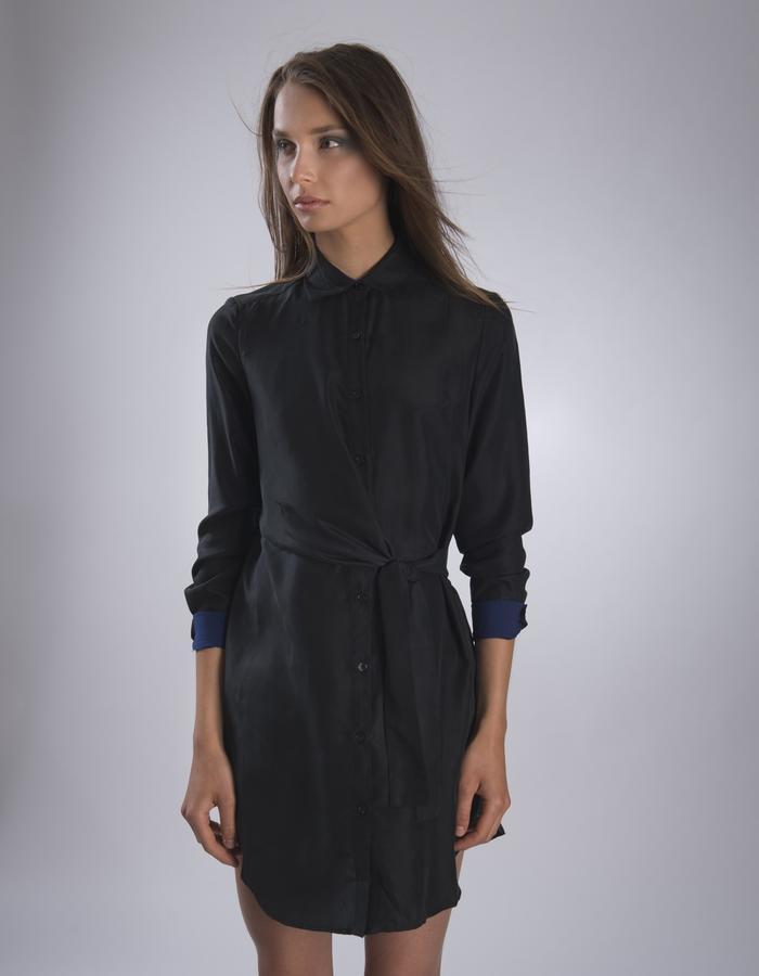 GINLEE Wrap Dress, 100% Silk