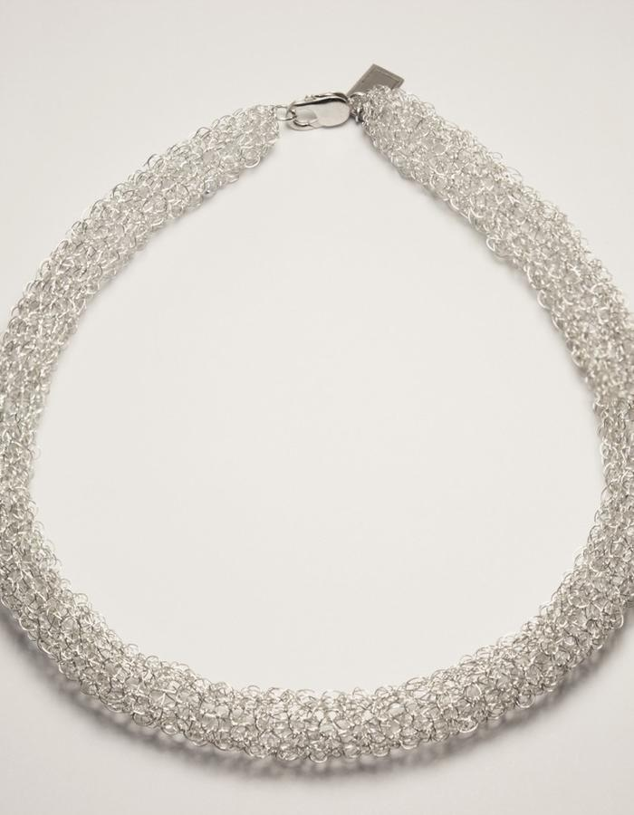 The 0.1 necklace it´s made of 100% silver