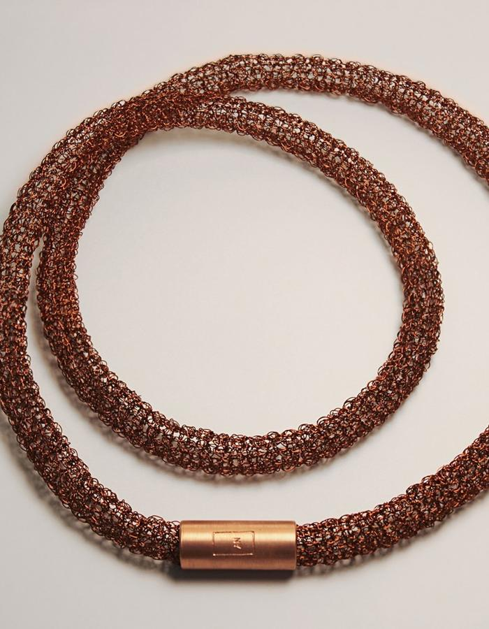 The 0.2 Necklace it´s made of copper