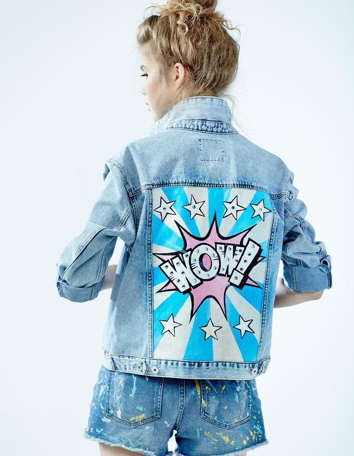 "Denim Jacket ""WOW"" DARIA & MARIA"