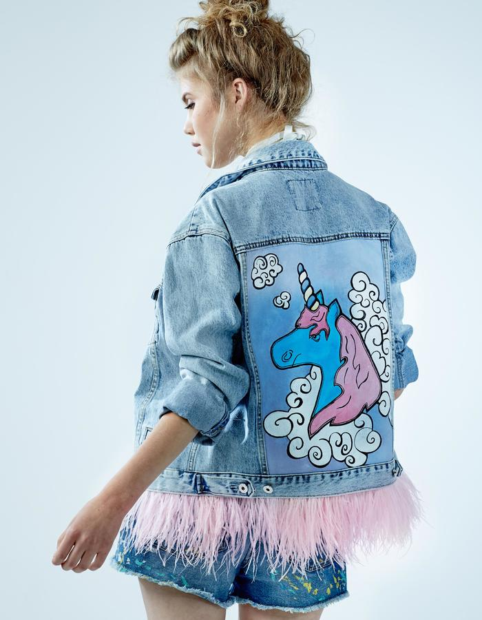 "Denim Jacket ""Unicorn"" DARIA & MARIA"