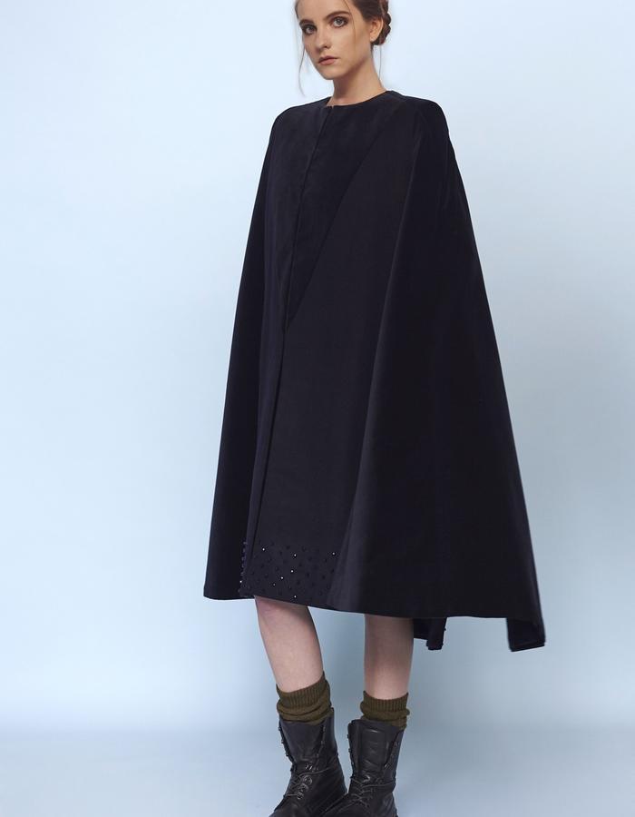 womenswear velvet cape