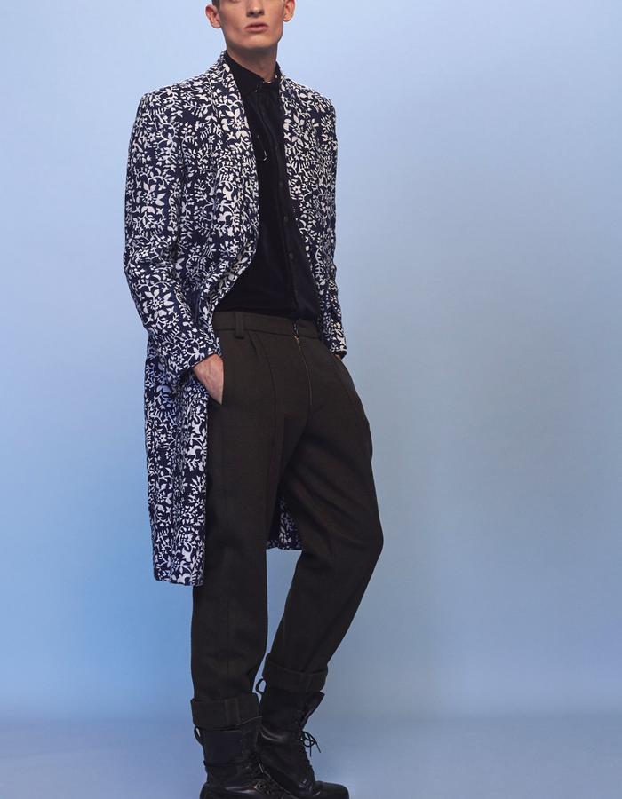 mens printed coat