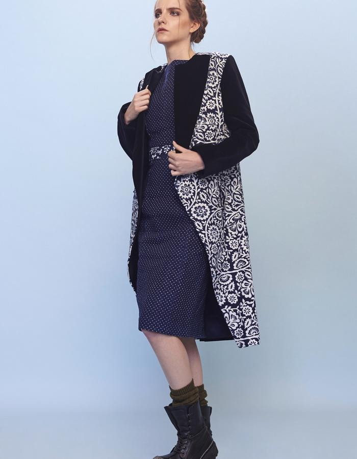womenswear printed coat