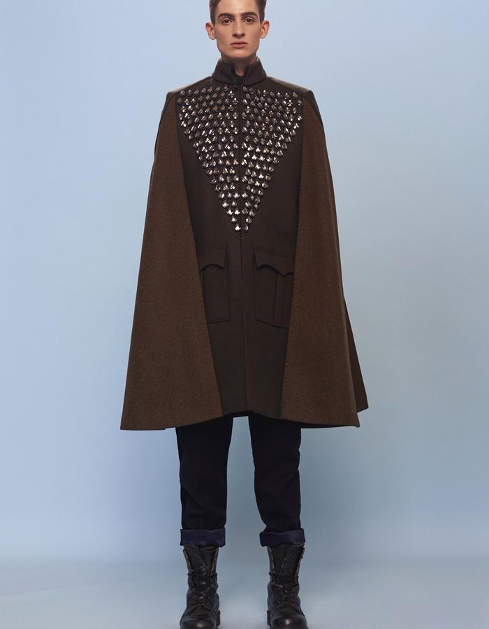 menswear woolen cape