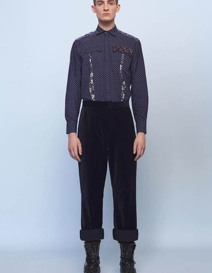 velvet mens trousers