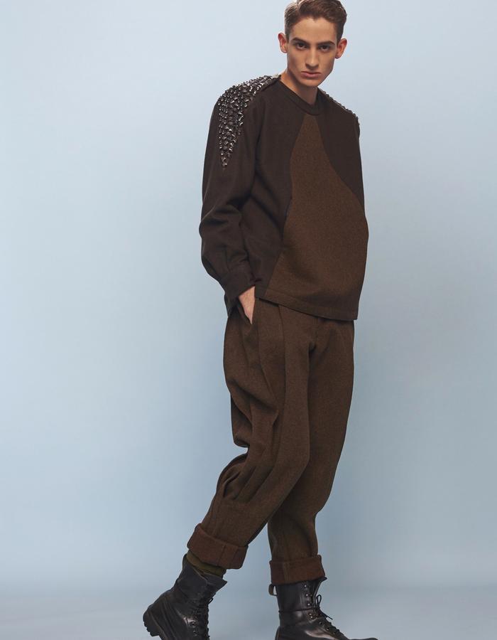 mens khaki sweatshirt