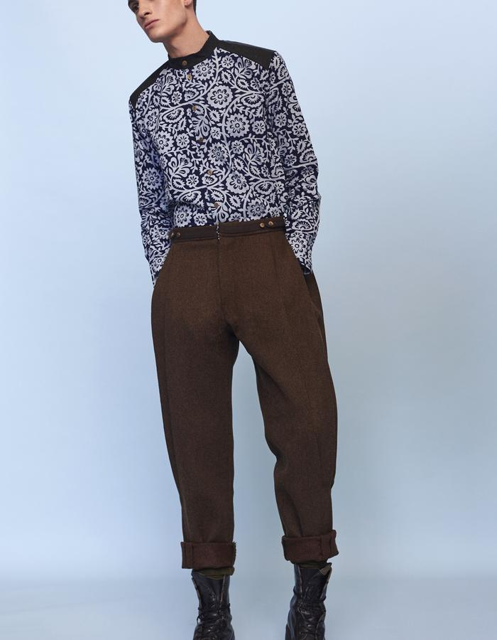 riding mens woolen trousers