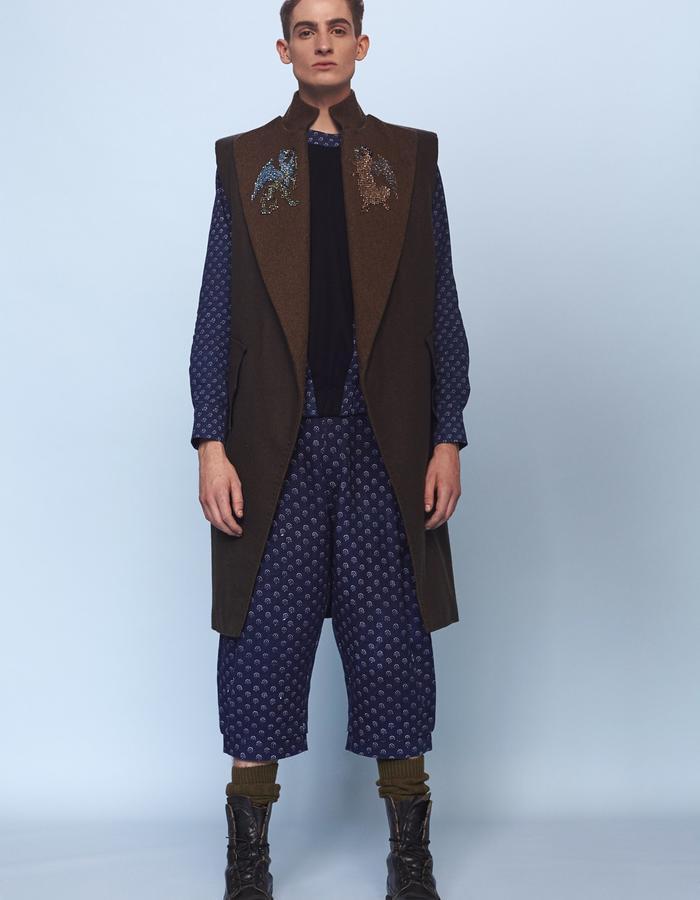 mens sleeveless coat