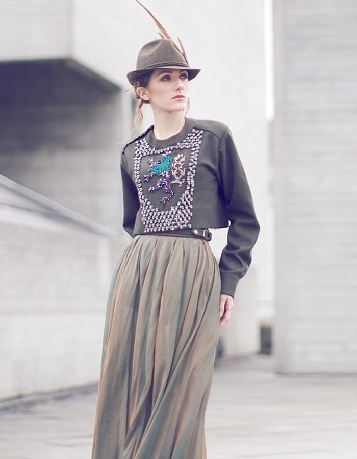 chiffon maxi skirt 1