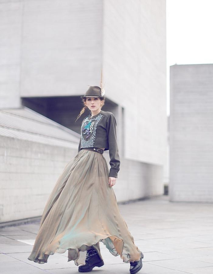 chiffon maxi skirt 2