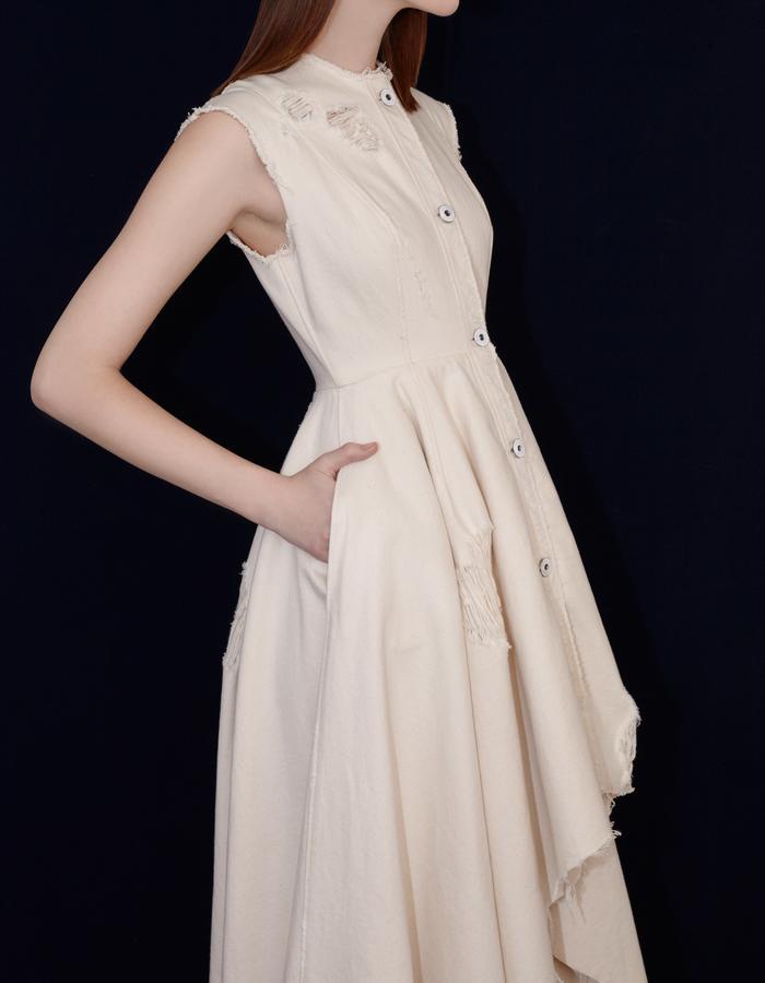 Olya Kosterina Denim Gown