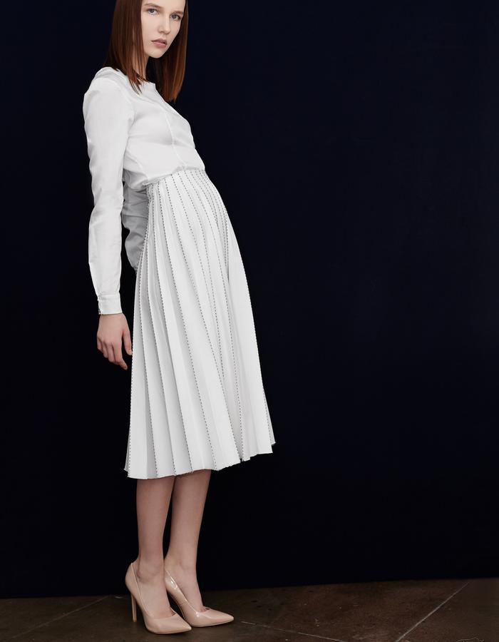 Olya Kosterina Pleated Skirt