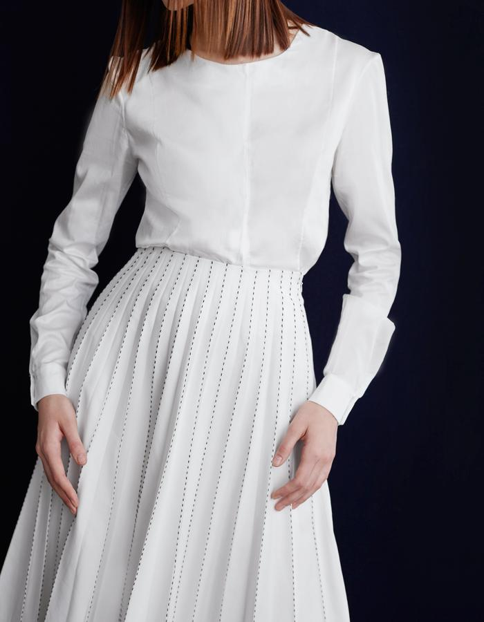 Olya Kosterina Panel Sheer Shirt