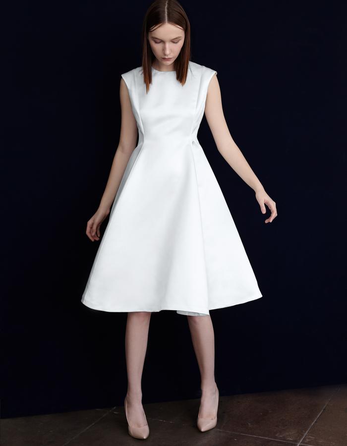 Olya Kosterina Elegant Dress white